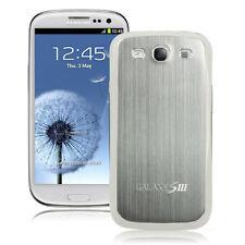 Hülle f Samsung Galaxy S3 i9300 Aluminium Deckel Case Cover Backcover silber
