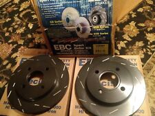 NEW EBC Brakes USR583 Sport Slotted Black Rotor Kit (2) CONTOUR COUGAR MYSTIQUE