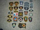 HUGE GROUP OF 32 MIXED ONTARIO FIRE DEPARTMENT PATCHES fireman city town county