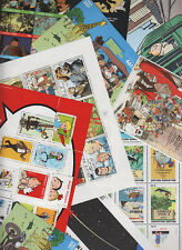 Tintin Mixed Mini Sheets & Anniversary Sheet, Belgium Select the ones you want..