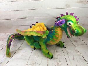 "40"" Melissa & Doug Lifelike & Lovable Dragon Multicolor Rainbow Posable Plush"