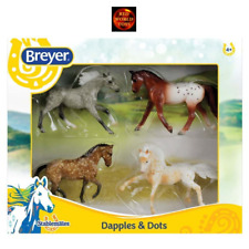 BREYER 6036 STABLEMATES 1:32 SCALE DAPPLES & DOTS SET OF 4 TOY MODEL HORSES -NEW