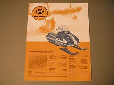 Vintage Fox Trac Snowmobile Sales Flyer Brochure