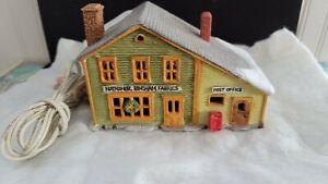 Dept 56 New England Village Series Nathaniel Bingham Fabrics & Post Office 1986