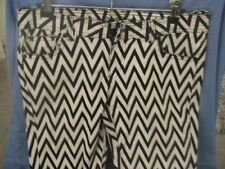 Retro Funky White & Black Stripe Jeans ~ Doll Deluxe Jeans ~ Size 12 So Cool!!