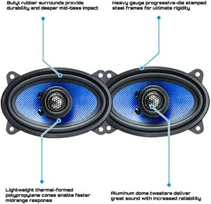 Hifonics 4 X 6 Car speakers Alpha Series 2-Way Coaxial 250 Watts 6x4