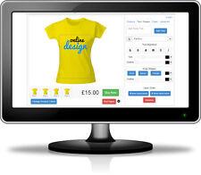 Online Design Website for DTG & Full Colour Digital Print - Includes Design Tool