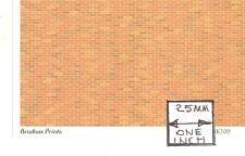O (1/48') Scale - Red Brick Wallpaper HBK100  1pc dollhouse model.Brodnax Prints