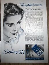 1935 Sterling Salt Pouring into Shaker Ad