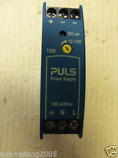 PULS INPUT POWER SUPPLY ML15.121  AC100-240v/DC 110-300v SINGLE PHASE