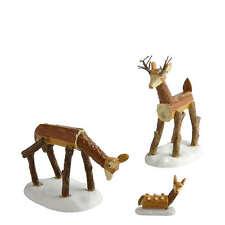 Dept 56 Wooden Deer Family General Village Accessory Set NEW D56 4020253