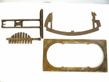 Antique Lot Old Metal Cast Iron Woodstove Stove Bracket Mystery Parts Hardware