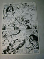 ARAK SON OF THUNDER #25 original comic art, WICKED BREATHING FIRE SALAMANDER