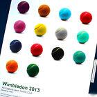 ORIGINAL 2013 WIMBLEDON TENNIS POP ART POSTER LONDON ENGLAND CHAMPIONSHIPS BALLS