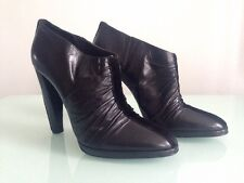 Pierre Hardy Black Leather Booty Bootie Ankle Boots, Size 41