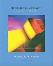 Operations Research: Applications and Algorithms with CD-ROM and InfoTrac