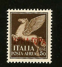 WWII MONTENEGRO OCCUPATION BY MUSSOLINI ITALY PEGASUS MINT MNH OVERPRINTED STAMP