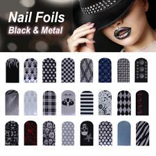 Nagelfolien Nailart Nail Foils Black & Metal Style selbstklebend glänzend 16 St.