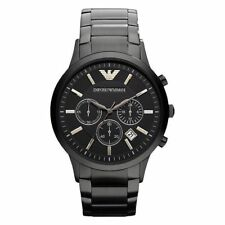 *NEW* ORIGINAL EMPORIO ARMANI MEN'S WATCH AR2453 BLACK CHRONOGRAPH CERTIFICATE