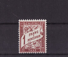 timbre France TAXE  1f lilas brun sur blanc    num: 40A  **