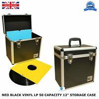 "1 X NEO Aluminum Black Storage for 50 Vinyl LP Records 12"" DJ carry Case"