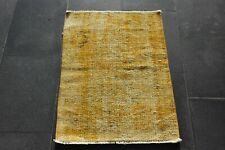 Vintage Turkish Oushak Small Rug, Yellow Color Weave Wool Decorative 1.7 x 2.3 f