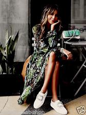 ZARA Great Quality Floral Tropical Print Midi Mulberry Silk DEVORE Dress Coat