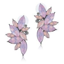 Women Fashion Rhinestone Crystal Beads Angel wing Earring Ear Stud Earring