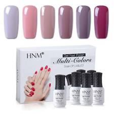 6pcs Nude Color Gel Nail Polish HNM UV LED Soak Off Base Top Coat Gift Set US