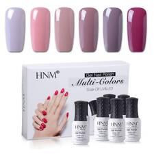6 Colour Gel Nail Polish Set UV LED Lamp Soak Off Manicure Nail Art AU STOCK HNM