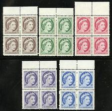 Canada  1962  Unitrade # 337p-341p  Mint Never Hinged Block Set