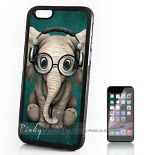 ( For iPhone 4 / 4S ) Back Case Cover P30189 Cute Elephant