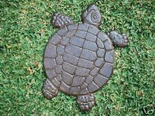 Cast Iron Turtle Garden Step Stone Ornament Yard Art RS