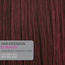 Clip In On 100% Virgin Human Hair Seamless Bangs Fringe Extensions Top Piece 30g