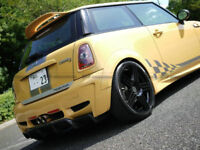 For Mini Cooper R56 Ver.2.11/2.12 FRP AG-Style C-Pillar Extension Add on Cover