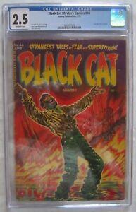 BLACK CAT MYSTERY - #44, 6/53; CGC 2.5; pre-code horror - great Lee Elias cover!