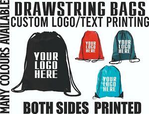 Custom Drawstring Bags Print Text Personalised Logos Gym Sports MMA Backpacks