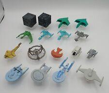 Micro Machines Star Trek Lot of 17 Loose Ships - Enterprise Battle Cruisers ++