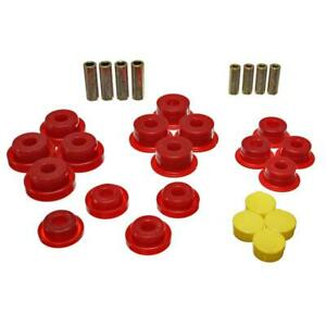 Energy Suspension Control Arm Bushing Kit 2.3106R; Red for Jeep Wrangler TJ