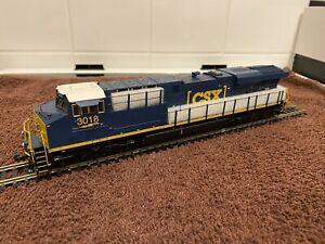MTH ES44AC With Protosound 3.0 CSX #3018 HO Scale Diesel locomotive. 80-2313-1