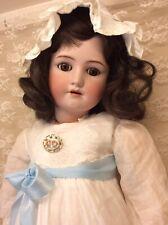 "31"" Brunette Beauty Halbig Handwerck Antique Bisque Doll"