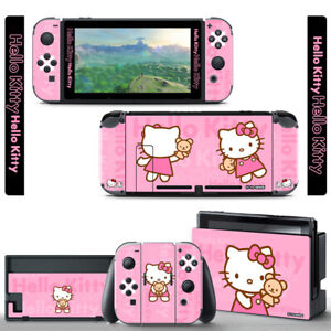 Ci-Yu-Online Hello Kitty Pink SKIN Screen Protector for Nintendo Switch Joy-Con