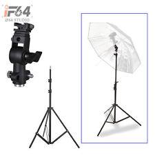 Photography Adjustable 220cm 7.2ft Light Stand Tripod + Holder Swivel Bracket D