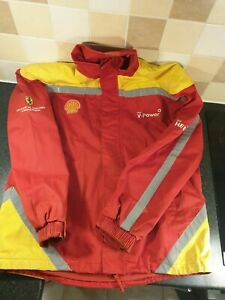 Shell Service Crew Technical Partner Scuderia Ferrari Jacket Coat Large