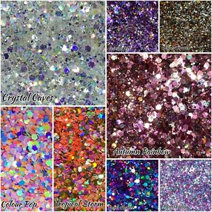 Mixed Glitter Holographic Iridescent Nail Art Chunky Craft Wax Melts 6g Bag