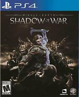 Middle-Earth Shadow Of War PS4 Game Playstation 4 Middle Earth Sealed New