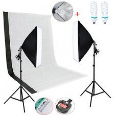 Photography Studio Backdrop Soft Umbrella Lighting Set+Background Support Stand