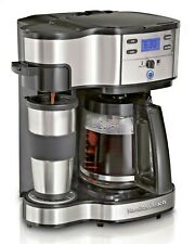 Hamilton 49980Z 12 Cup 2 Way Coffee Maker - Black and Stainless