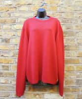 Armani Jeans Men Red Wool Blend Long Sleeve Knit Jumper Size XL