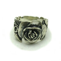STERLING SILVER RING FLOWER QUALITY 925 NEW SIZE H - Z